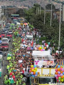 cómo es la marcha gay del sur de Bogotá