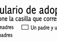 Formulario de adopción ICBF