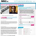 Esta es una de las peticiones que circula en Internet para protestar contra las medidas adoptadas en Uganda. Foto: See-ming Lee.