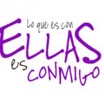 """Logo de la campaña """"Lo que es con ellas es conmigo""""."""
