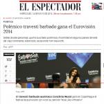 Polemico travesti barbado gana Eurovision 2014