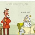 Caricatura del chileno Alberto Montt.