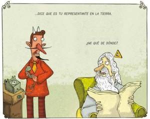 Caricatura del chileno Alberto Montt. www.dosisdiarias.com