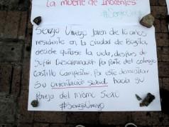 Plantón Sergio Urrego.