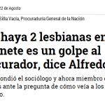 Que haya 2 lesbianas en el gabinete es un golpe al Procurador dice Alfredo Molano.