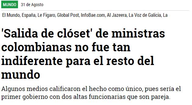 Salida de clóset de ministras colombianas