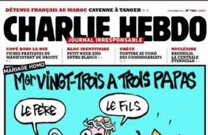 Esta imagen de Charlie Hebdo puede resultar ofensiva para los católicos, pero no por esto se puede impedir que existan.