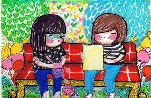 Así suene cliché, estoy convencida de que uno quiere a sus amigos como son, con sus silencios incluidos. Ilustración: Alterna.