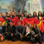 Algunas de las personas que forman parte de Todaos Boyacá durante la presentación de la política pública LGBT de Tunja.