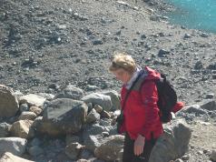 """""""El fin de semana pasado fui a conocer el monte Fitz Roy, un terreno bastante empinado. Me encantó encontrar hombres y mujeres de edades avanzadas que subían y bajaban por la pendiente"""". Foto Lila Forero."""