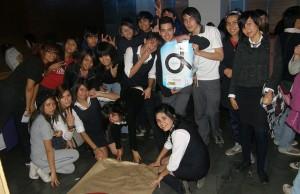 Imagen tomada durante el primer foro contra el bullying LGBT organizado por estudiantes con el apoyo de Movilh en Chile. Foto: Movilh Chile.