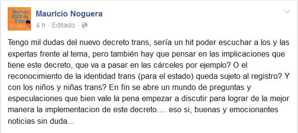 Decreto cambio de sexo - Mauricio Noguera