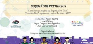 Evento Bogota Sin prejuicios