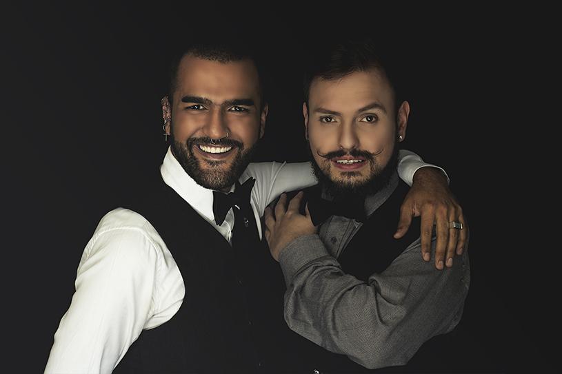 Hombres maquillados